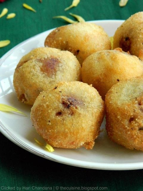 Boorelu is the traditional sweet Indian dish in the Telugu festivals. It is made of balls of rice flour stuffed with coconut, sugar, and dried fruits. It is often served hot with ghee.