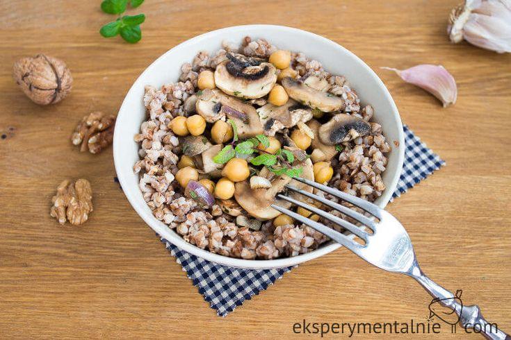 kasza gryczana z pieczarkami i ciecierzycą - kasza gryczana na obiad / Buckwheat with Mushrooms and Chickpea