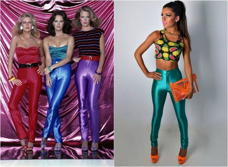 mode-annees-70-party-legging-couleur-neon-top-collier