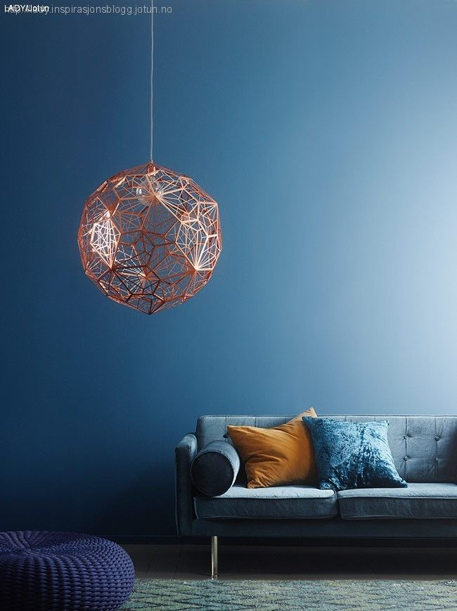 Superb Mix of colours predominantly dusky blues with copper accents by Tom Dixon