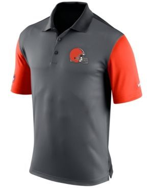 Nike Men's Cleveland Browns Preseason Polo - Silver S