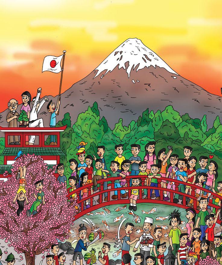 www.findthecutes.com #Japan #Japancartoons #Japanesechildren #Japanesekids #Childrensbooks #Kidsbooks #Lookandfind #Seekandfind