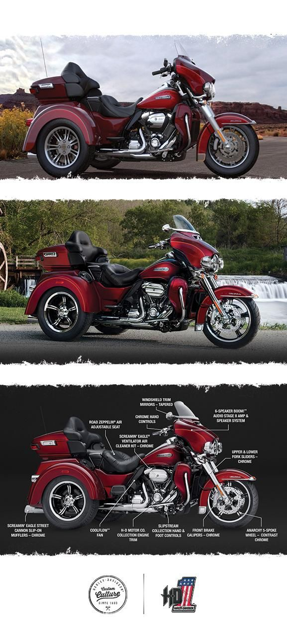 How much motorcycle can you fit on three wheels? One look and you'll have your answer. | 2017 Harley-Davidson Tri Glide Ultra
