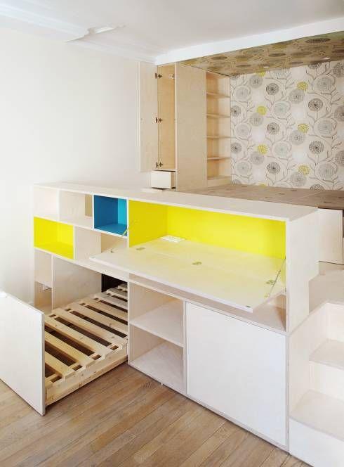 Recámaras de estilo moderno por Atelier UOA