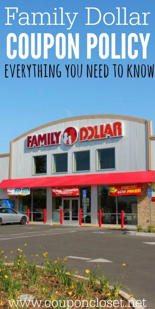 Everything you need to know about the Family Dollar Coupon Policy so you can save at Family Dollar.