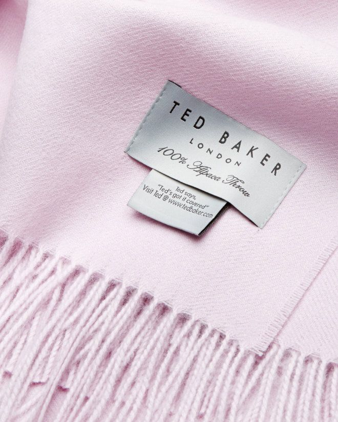 Alpaca tasselled bed throw - Pink | Gifts for Her | Ted Baker UK
