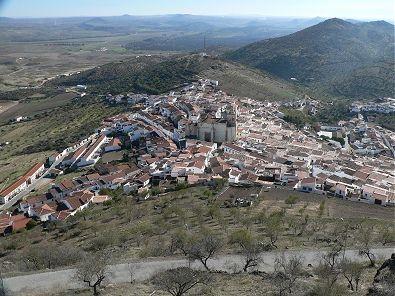Vista de Feria desde la torre del Homenaje del castillo.
