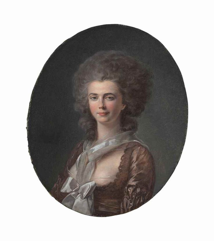 Portrait of a lady, 4th quarter 18th C by Louis-Rolland Trinquesse (1746-1800)