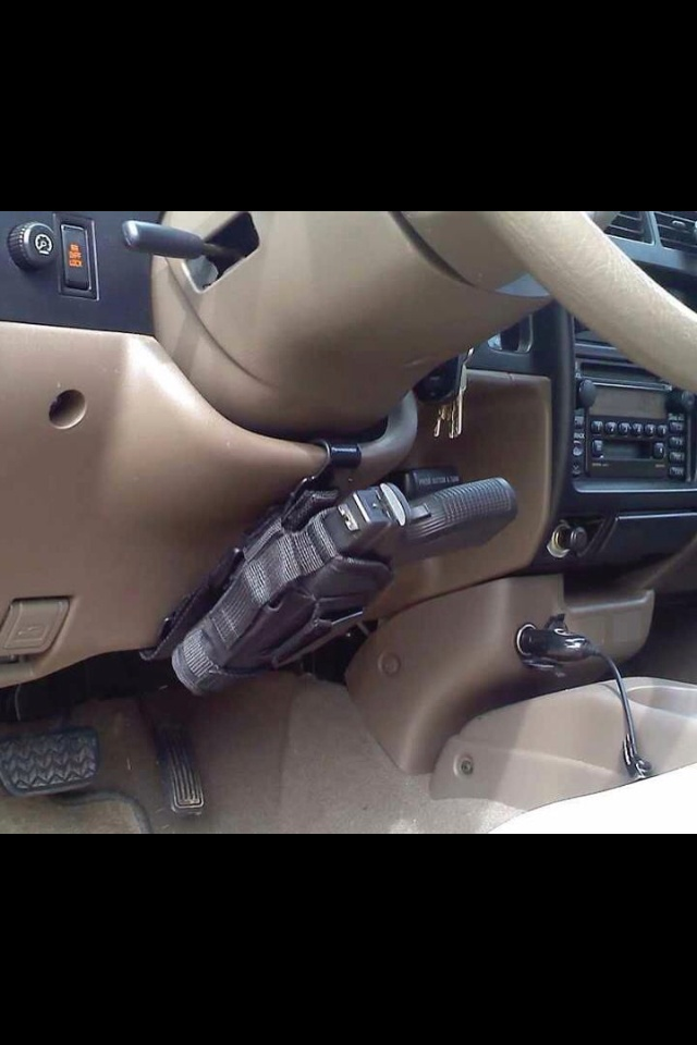 Gun holster for the car/truck