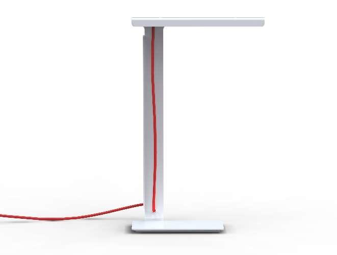 Da dupla Jeremy Schotte and Richard Wells, do group Design, luminária de mesa em chapa metálica