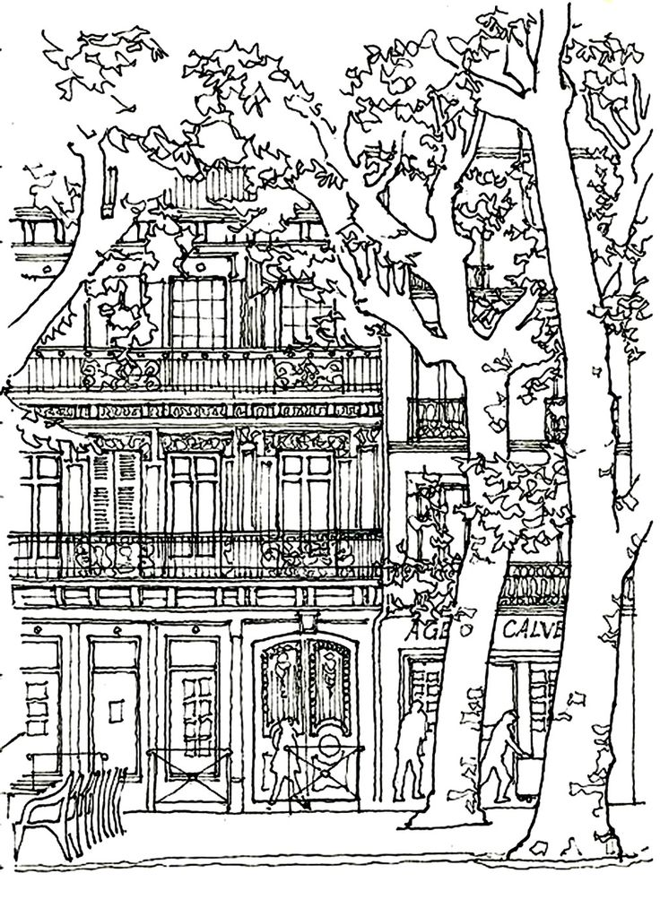 45 best Paris colouring and doodling