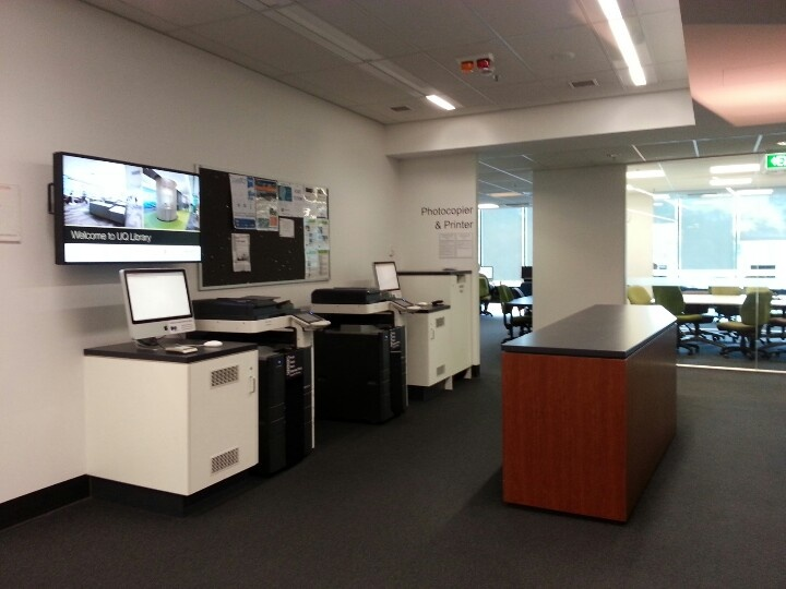 Uq printers at biological science library level 3