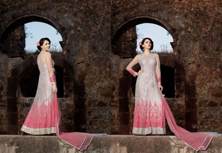 Ethnic Anarkali Indian Salwar Kameez Pakistani Suit Bollywood Designer Dress #ManasCollections #SalwarKameez #WeddingPartyWear