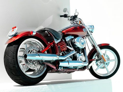 Softail Rocker C.   More choppers over the past 65 years have been based on Harleys than on any other bike.