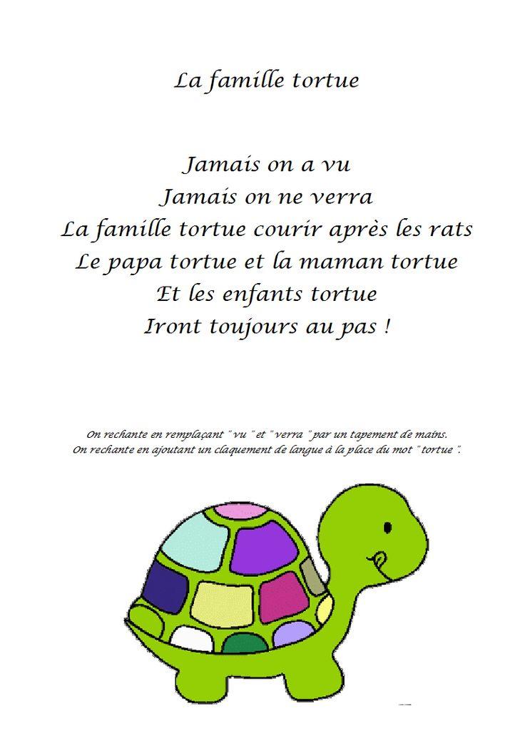 comptine la famille tortue