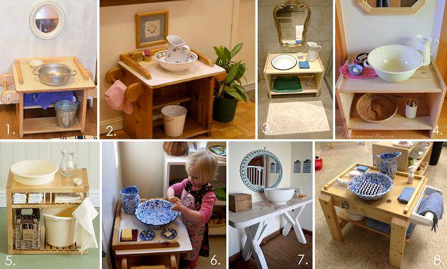 Montessori handwashing stations. Ideas for how to