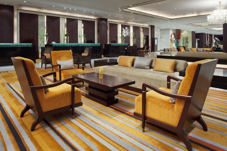 The beautiful lobby at Holiday Inn Bangkok Silom #Holiday Inn Bangkok Silom Hotel