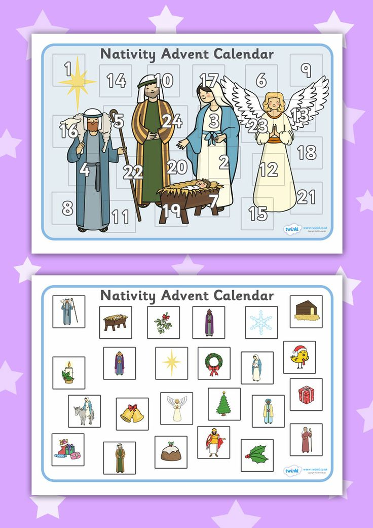 Advent Calendar Ideas Eyfs : Twinkl resources gt nativity advent calendar activity