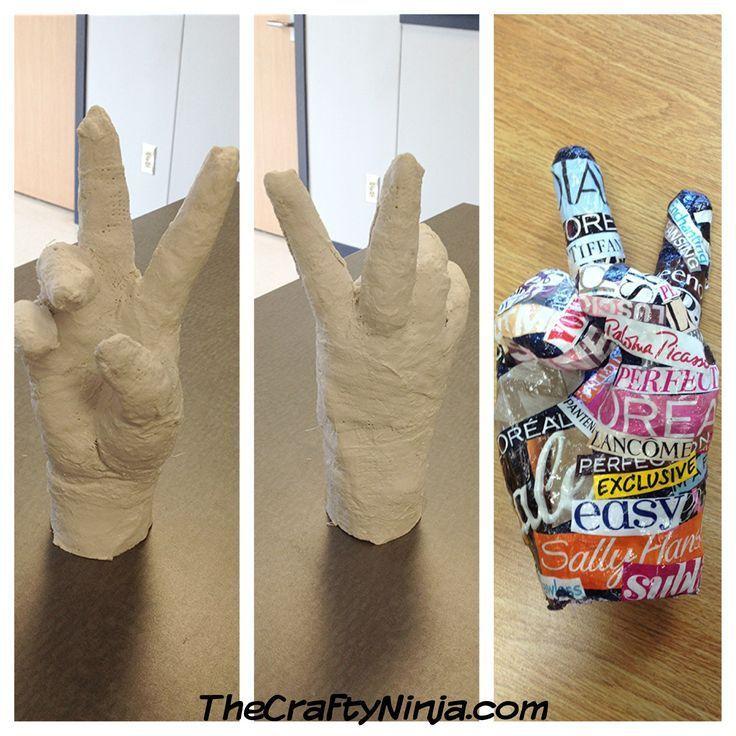 plaster hands. art project for kids.