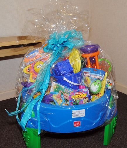 344 best auction baskets and other great auction ideas images on love this idea for summer fun jca of jacksonville 2011 bountiful baskets easter basket negle