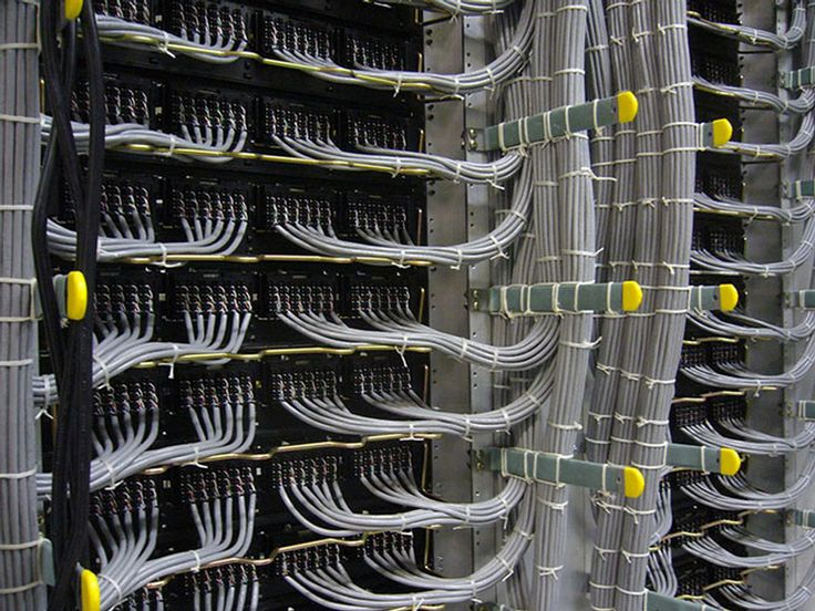 Best Art in industrial form Gray Ethernet installation Great cable management and wire management