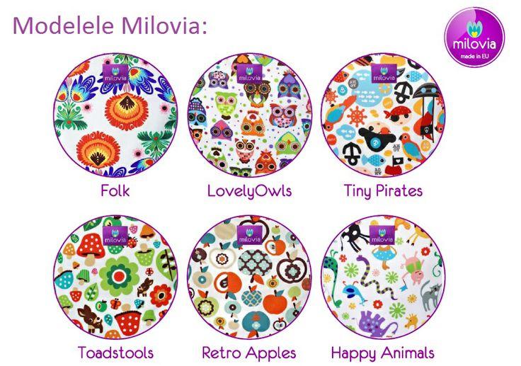 Modele scutece textile Milovia