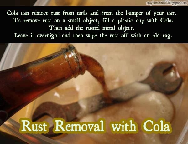 Rust Removal With Cola..... Think what this must do to the inside of your body!