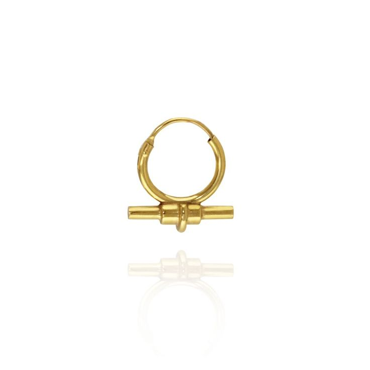Bullet Hoop via Mille Rubow Jewelry. Click on the image to see more!