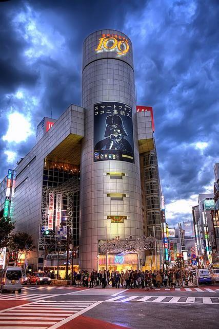 渋谷 109 / Shibuya 109 (department store), Tokyo, Japan ★東急の運営なので 10 (とう) 9 (きゅう) なのですが、若者間で 「まるきゅー」の呼び名が定着してしまった為、知ってる人は少ないかも!? I luv the sky! 空模様がシビれる!(^ ^)