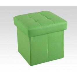 ACMEF96409-Green Ottoman W/storage