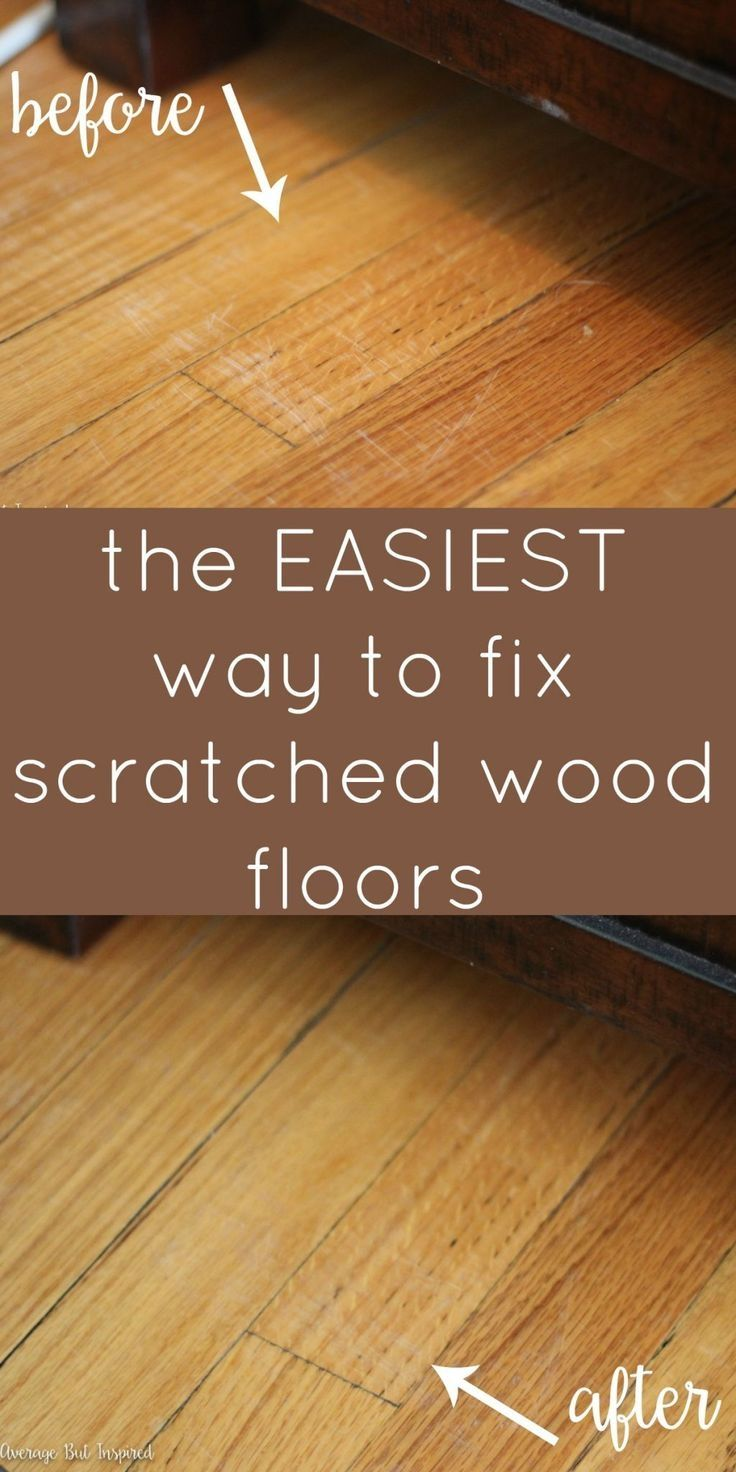 Simple Treating Hardwood Floor Scratches