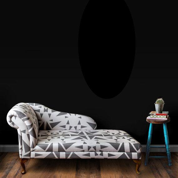 Chaise Longue Chair Geometric Grey And White Printed By HomeCrush Sofa Furniture Homewares Interiors