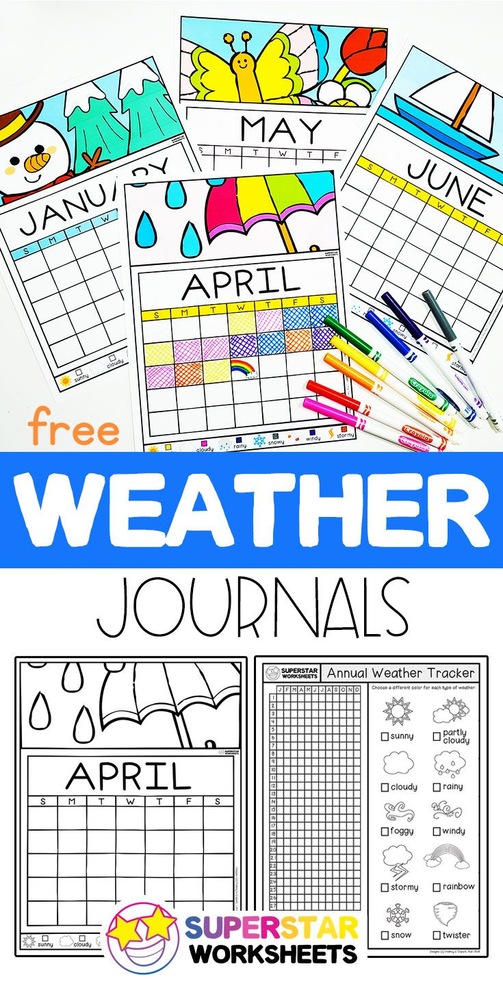 Students Learn To Track The Weather With These Free Weather Printables Great For Preschool Ages And Weather Printables Preschool Weather Chart Kids Calendar [ 1440 x 735 Pixel ]