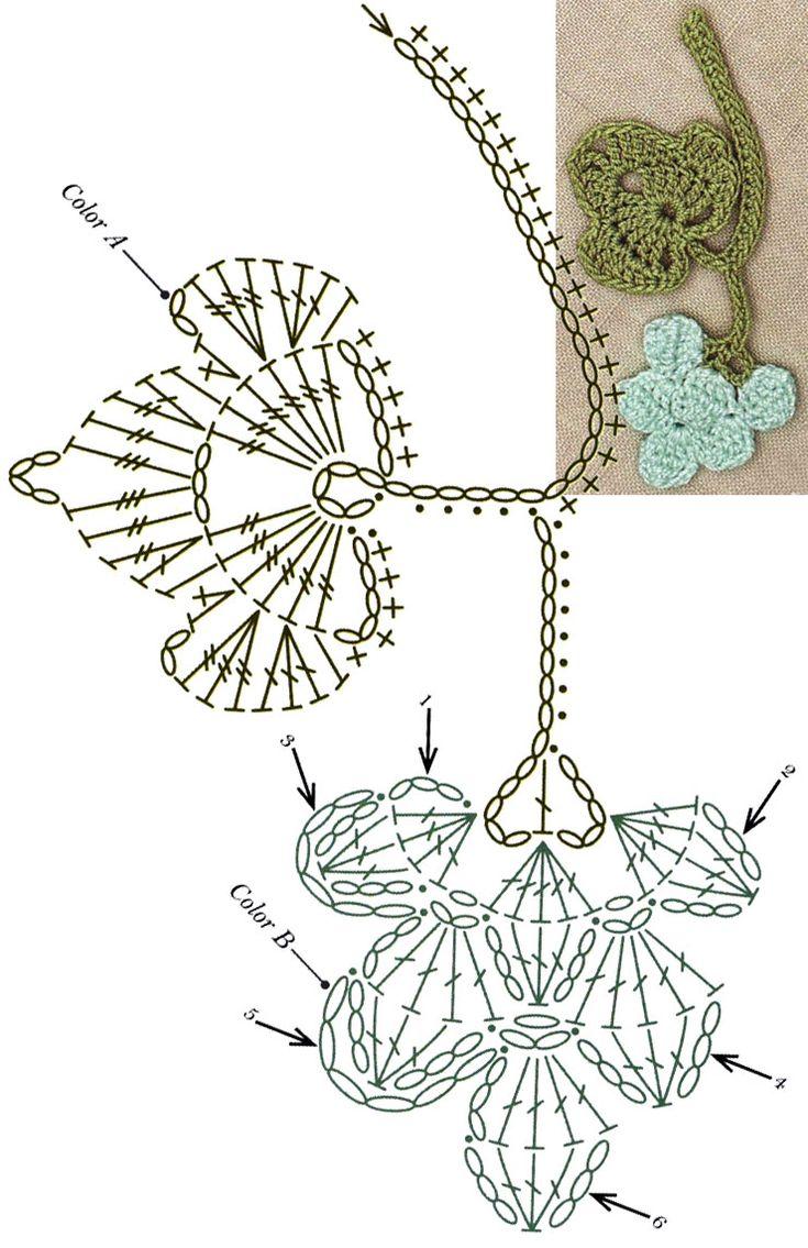 No.61 Grapevine Lace Crochet Motifs / 포도덩굴 모티브도안