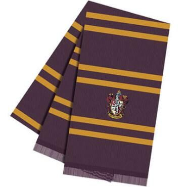 This wonderful wool scarf is based on the one worn by Harry Potter and his Gryffindor friends Ron Weasley and Hermione Granger in the Harry Potter movies. This burgundy and yellow 100% wool yarn scarf measures 68.9 inches by 10.2 inches. In addition, the scarf has a beautifully embroidered Gryffindor house crest on one end. For children ages 5 and up as well as adults.