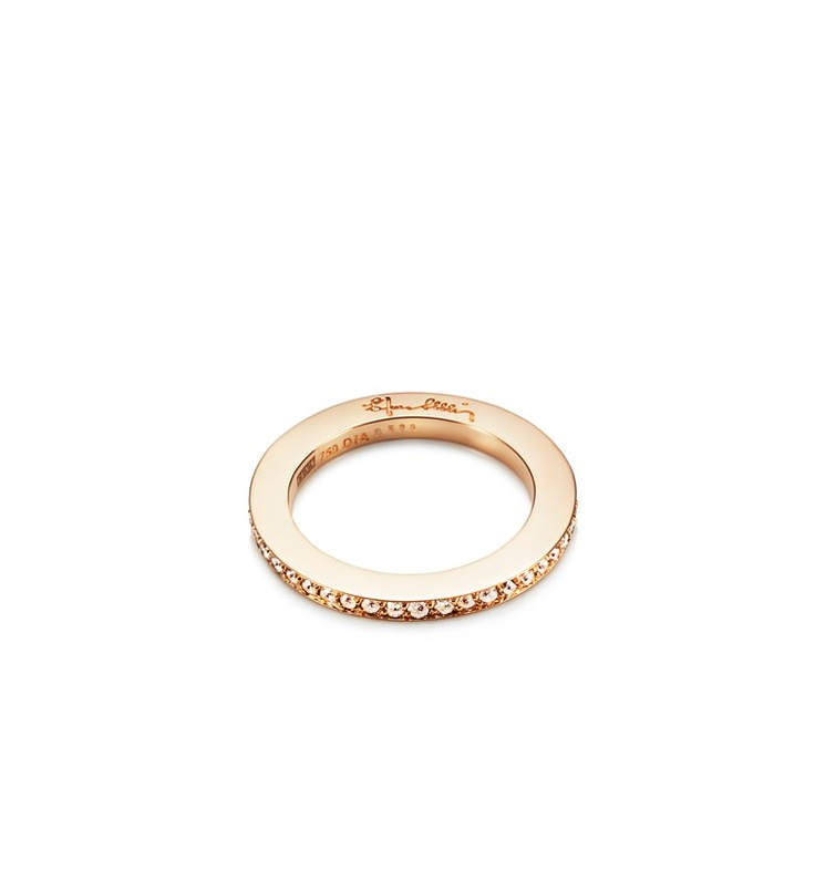 Efva Attling - Stars & Signature - $2,970. Gold or white gold ring with diamonds set around the shank.
