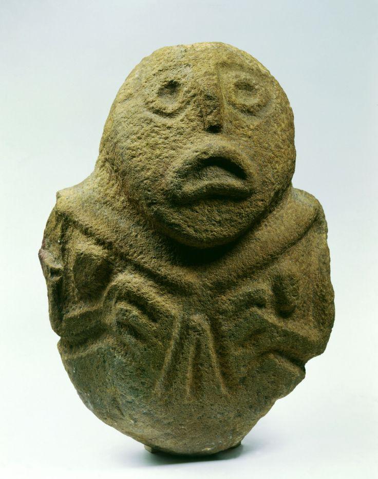 Title:PROGENITOR - FEMALE Site:LEPENSKI VIR Location/Region:BOLJETIN, ĐERDAP Chrolonology:10000 BC - 4000 BC Museum:NATIONAL MUSEUM IN BELGRADE Country:SERBIA Epoch:MESOLITHIC Culture:LEPENSKI VIR CULTURE Closer Dating:6300 – 5900 BC Material:QUARTZ SANDSTONE Dimensions:51 x 39 cm