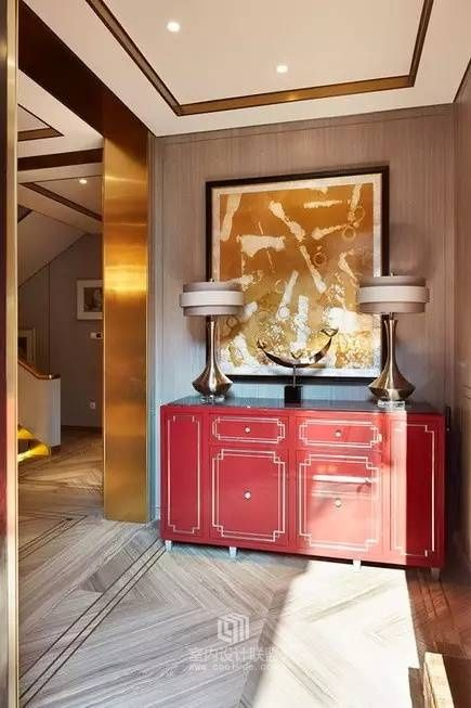 red sideboard  perfect for a luxury entryway |www.bocadolobo.com #modernsideboard #sideboardideas