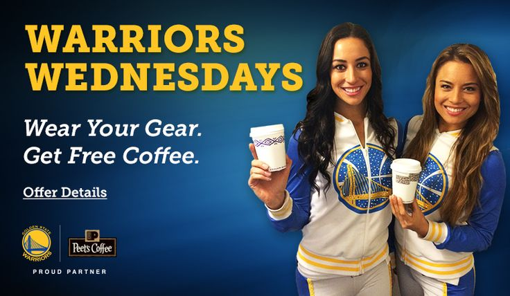Free coffee on Warrior Wednesdays NBA GS Warriors