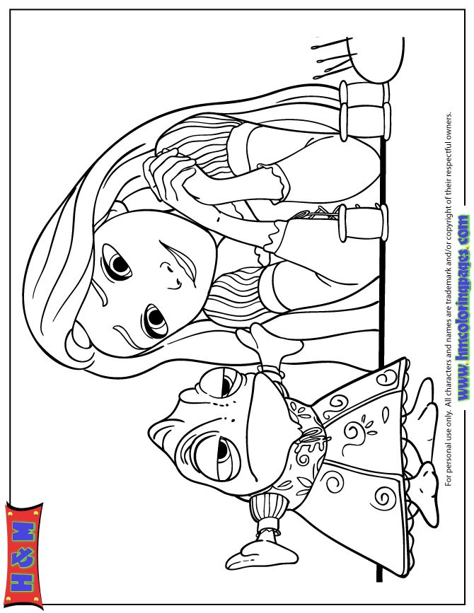 Tangled Pascal Coloring Pages | Tangled coloring pages ...