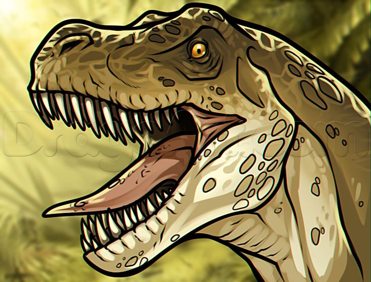 how to draw a t rex for kids