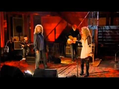 "ROBERT PLANT + ALISON KRAUSS ~ ""Black Dog"". Really great version of a classic Led Zeppelin song. Give a listen. {Their collaborative CD ""Raising Sand""...is fantastic!}"