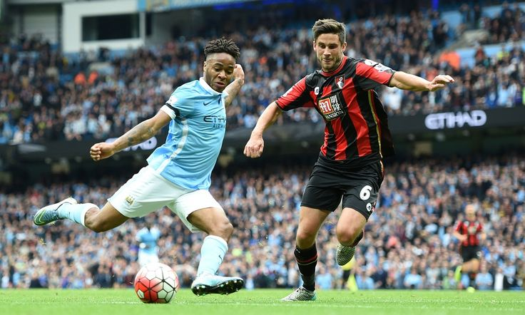 Raheem Sterling hit three and Wilfried Bony two in Manchester City's 5-1 home victory against Bournemouth at the Etihad Stadium