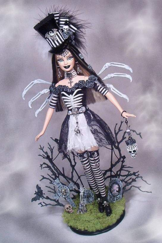 Barbie Doll Halloween Day of Dead Haunted Altered OOAK Custom Fairy Goth Passion | eBay