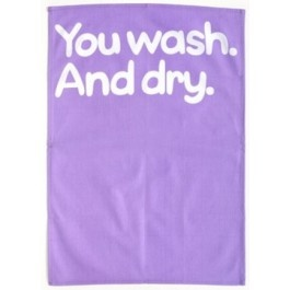 You Wash And Dry Tea Towel from Sarah J Home Decor. $16.95