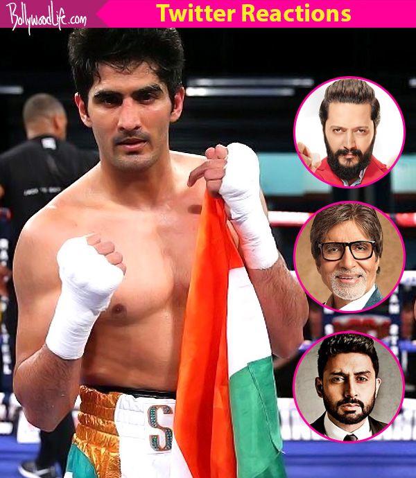 Amitabh Bachchan, Kapil Sharma, Riteish Deshmukh congratulate Vijender Singh for winning WBO Asia Pacific Super Middleweight… #FansnStars