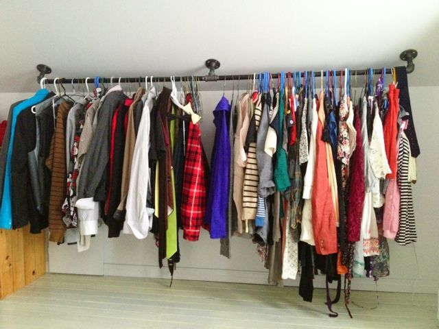 pipe closet rod | ... but in a nice silver and only like 2 feet long - - - - Pipe closet rod