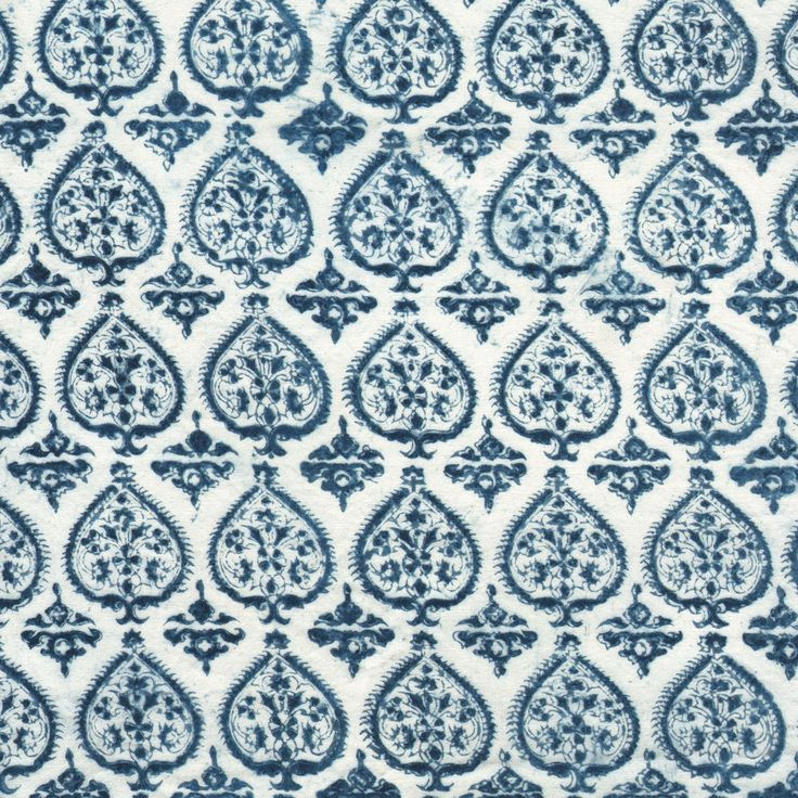 IKAT option for warm blue (accent with warm red or orange?)  lesindiennes fabric