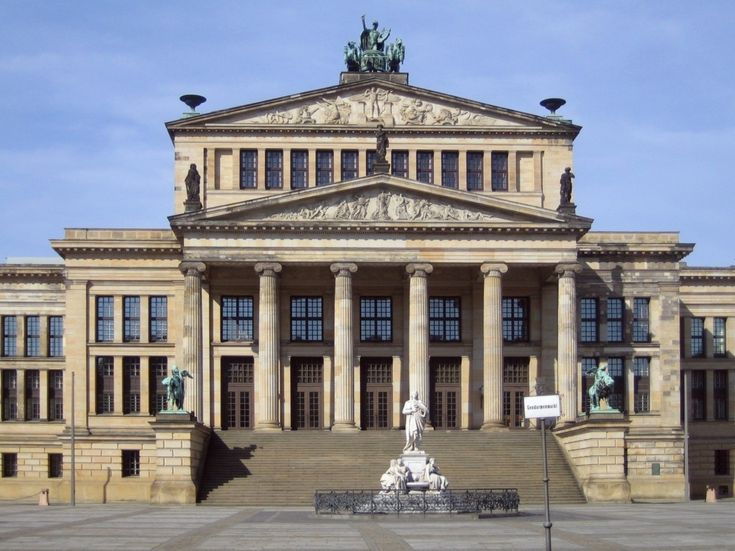 The Konzerthaus Berlin is now a concert hall  |  Built as a theatre by the architect Karl Friedrich Schinkel, completed in 1821 and originally named Schauspielhaus Berlin.