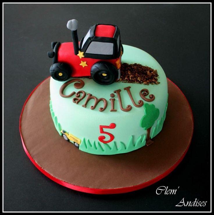 Gateau tracteur campagne  Cake design